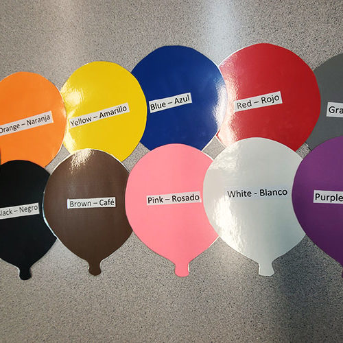 Spanish Color Balloons