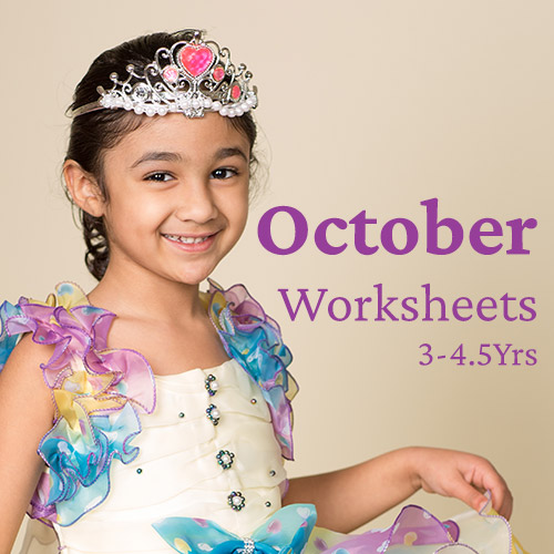 PDF Worksheet Bundle - October 2020 (3 Years to 4.5 Years)