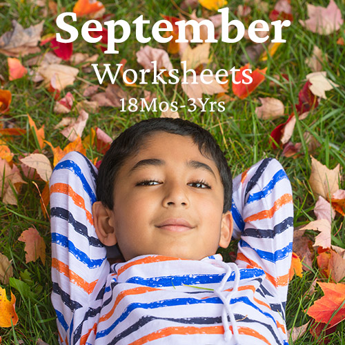 PDF Worksheet Bundle - September 2020 (18 Months to 3 Years)