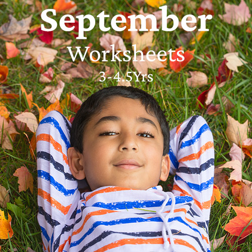 PDF Worksheet Bundle - September 2020 (3 Years to 4.5 Years)
