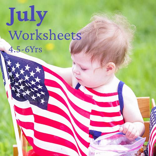 PDF Worksheet Bundle - July 2020 (4.5 Years to 6 Years)