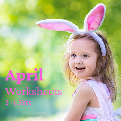 PDF Worksheet Bundle - April (3 Years to 4.5 Years)