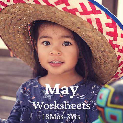 PDF Worksheet Bundle - May (18 Months to 3 Years)