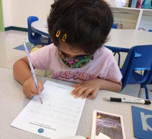 Online and Virtual Preschool and Kindergarten taught using Montessori methods.